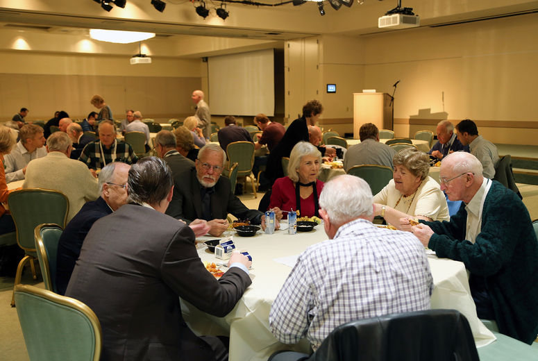 people eating at Mission Emphasis breakfast