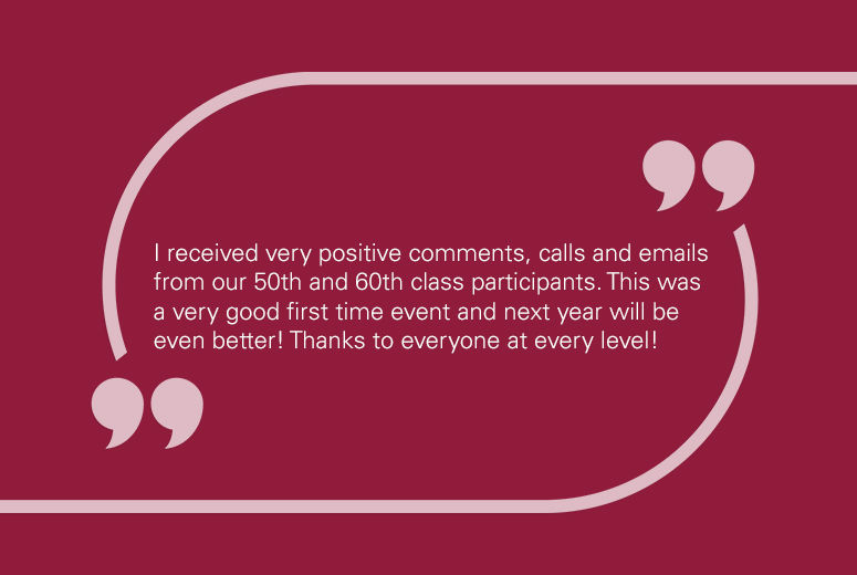 Image testimonial of participant expressing positive feedback of event